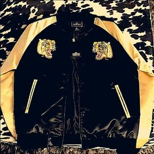 Other - Upscale  Gold Tiger Embo Satin Club Jacket